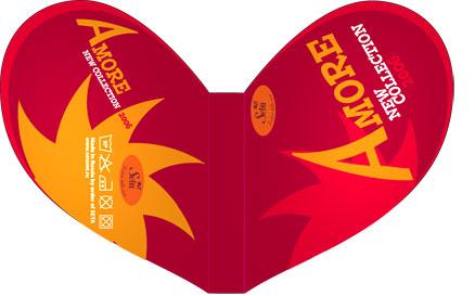 дизайн упаковки в виде сердечка