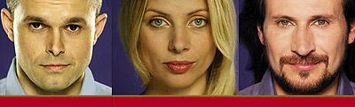 лица с дизайна постеров рекламной кампании