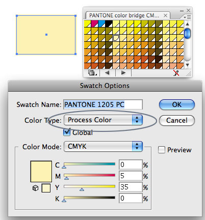 Окно свойств цвета Adobe Illustrator