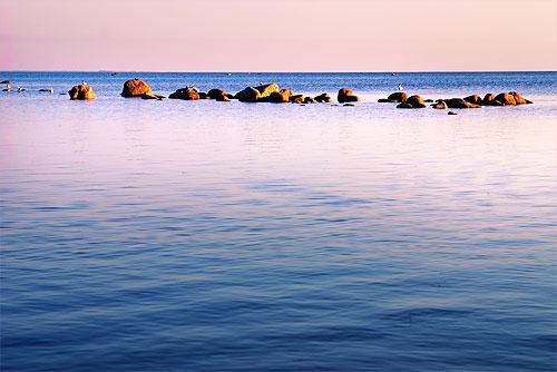 Финский залив, предзакатное время